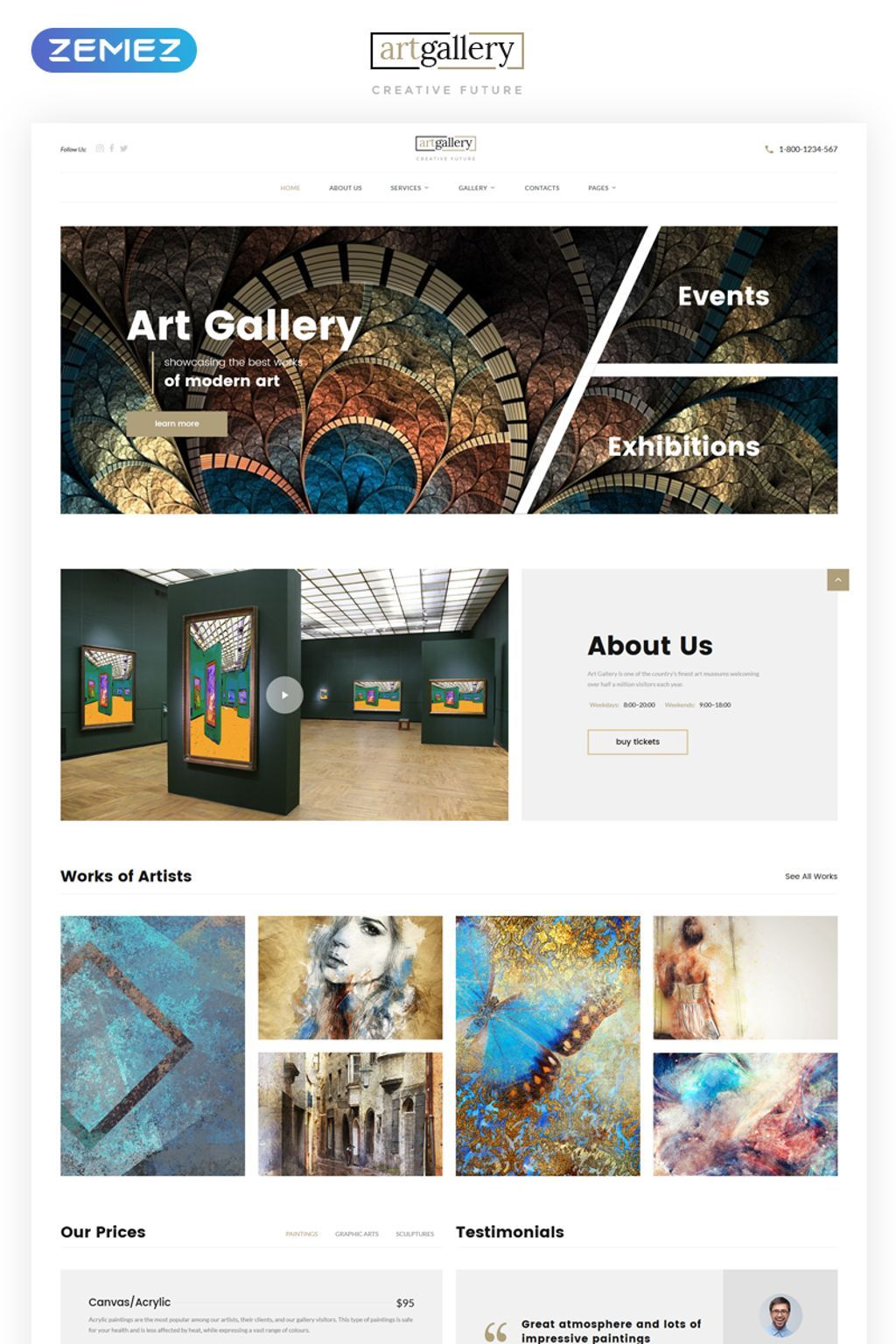 art gallery multipage html5 website template pinterest template