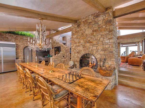 Breathtaking Italian Farmhouse On The Big Sur Coastline Tuscan Dining RoomsRustic