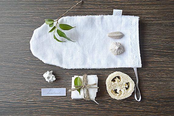 Home SPA gift set   Linen-cotton washcloths  Goats от pureWHITEspa