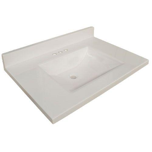 Wave Bowl Premium Granite Vanity Top with 4-Inch ...