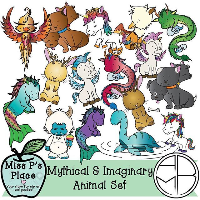Trying to make things a little more magical in your room? Animals Clipart Set: Mythical & Imaginary [Miss P's Place]  This 30-image set is a unique addition to your products that will spark your students' imaginations! You will get 10 black and white images and 20 colorful graphics; all original and detailed artwork to put in your products. This is the perfect set to use in resources that talk about fiction v. non-fiction, mythological creatures, and products with an imaginary theme!