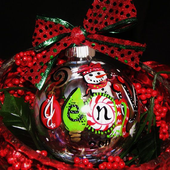 Personalized Large Christmas Ornaments that are cute Funky and FUN