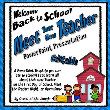 Back To School Meet The Teacher Editable Powerpoint Template Open