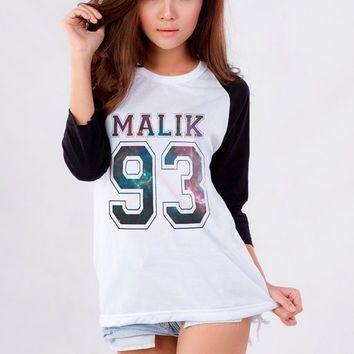 Zayn Malik One Direction Galaxy TShirt for Teen Girl Blogger Tumblr Instagram Clothing Fashion Shirt Birthday Girlfriends Christmas Gifts
