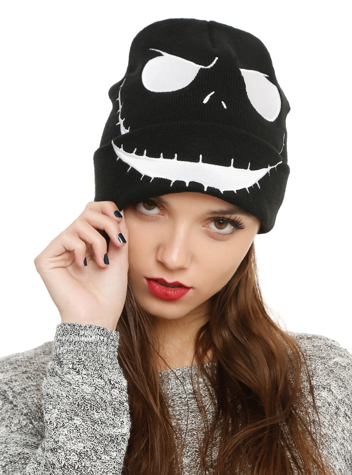 c9494716330 The Nightmare Before Christmas Jack Face Watchman Beanie