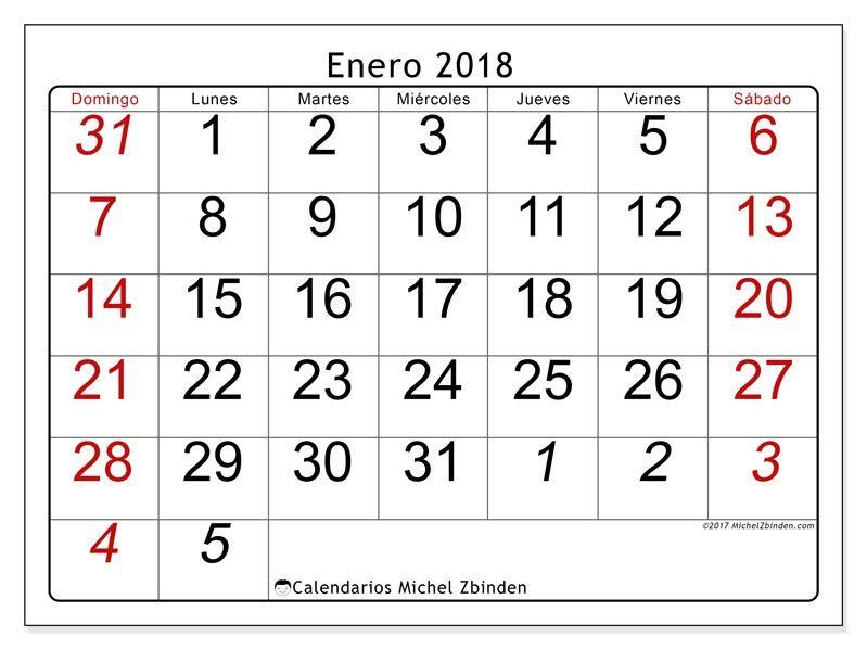 Calendarios Para Imprimir Con Imagenes Calendario Enero