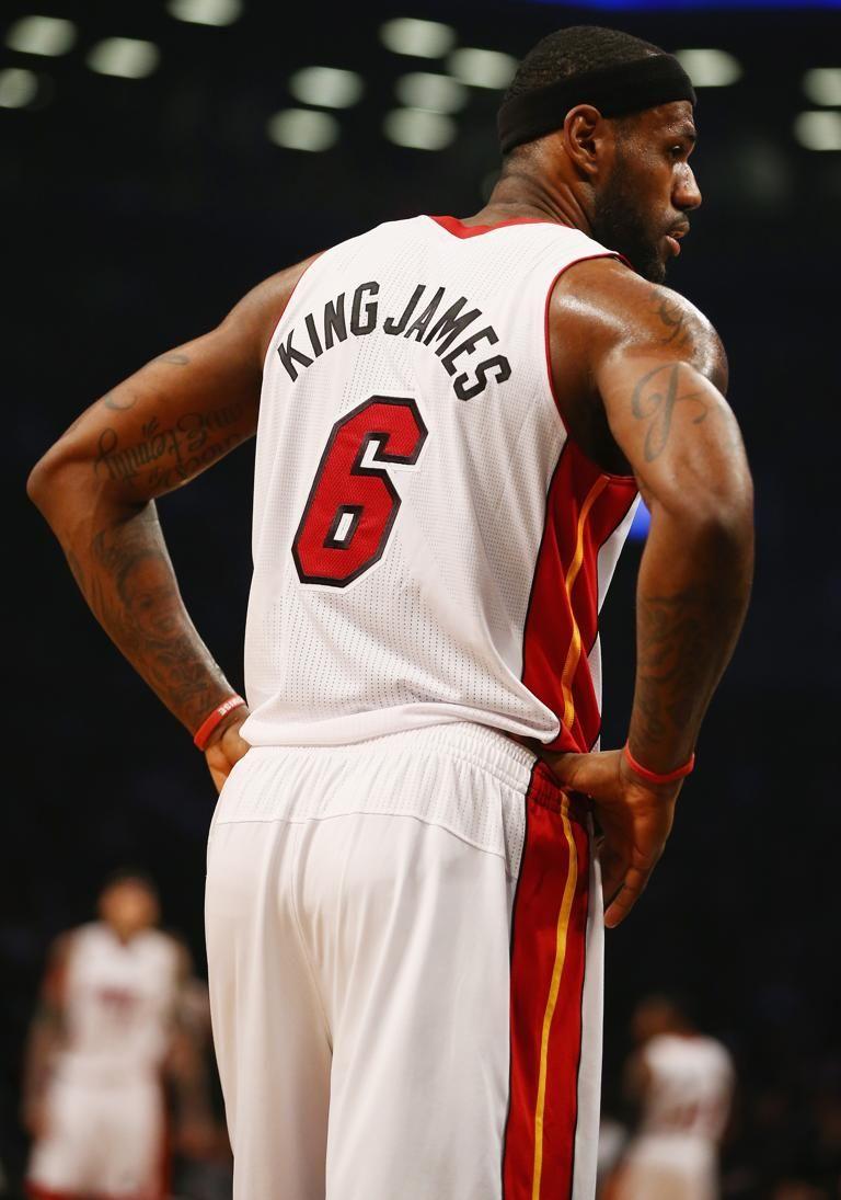 James New York: NBA Players Sport Nicknames On Jerseys Miami Heat V