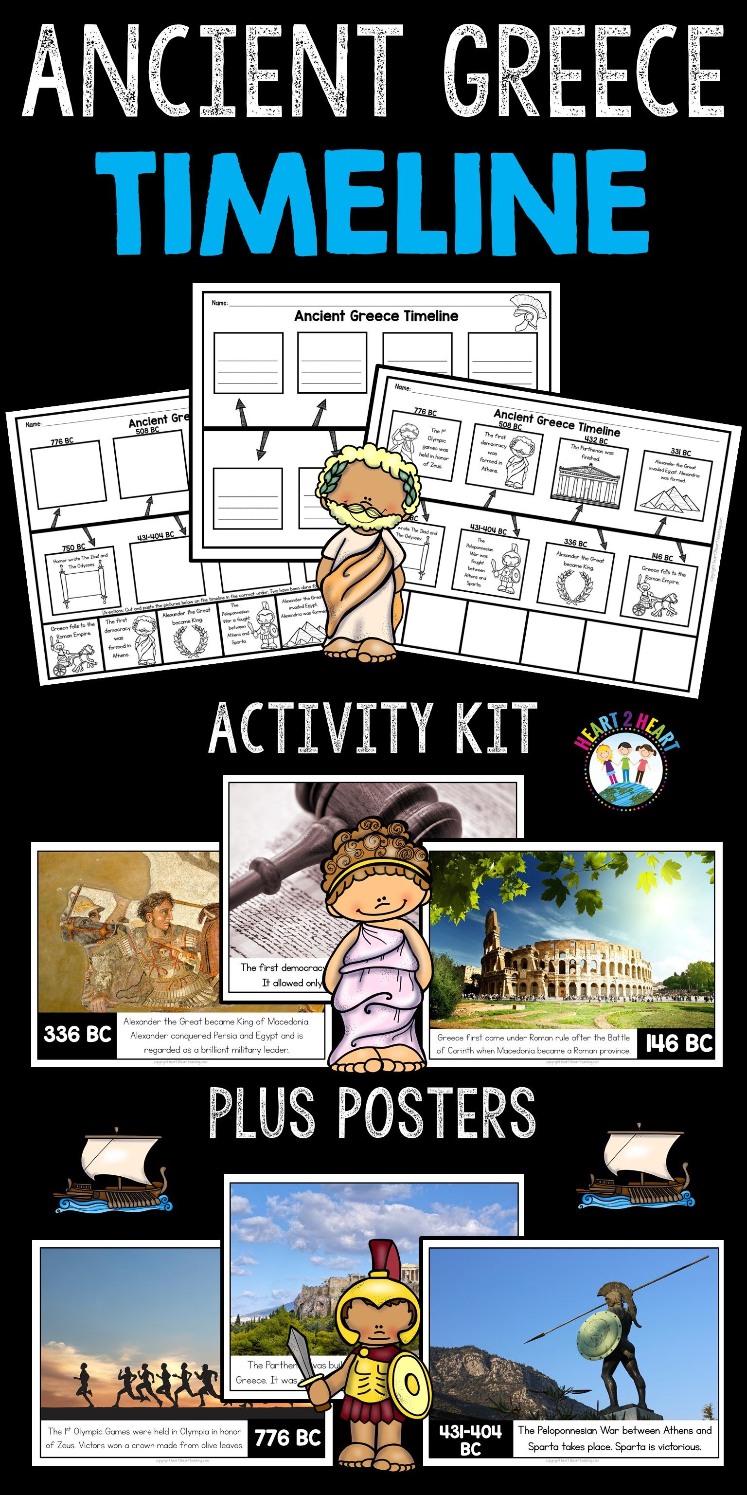 Ancient Greece Timeline And Bulletin Board Kit