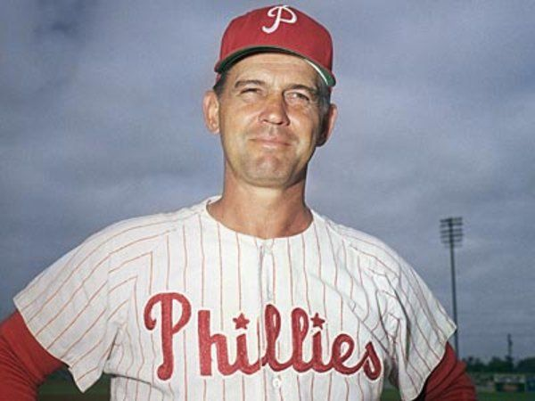 Gene Mauch, manager of the Phils from 1960-1968. He was the all-time winningest manager until passed by Charlie Manuel. Perhaps best known in Philly as manager of the Pennant-blowing 1964 club.