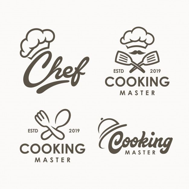 Chef Cooking Logo Template Cooking Logo Logo Restaurant Logo Food