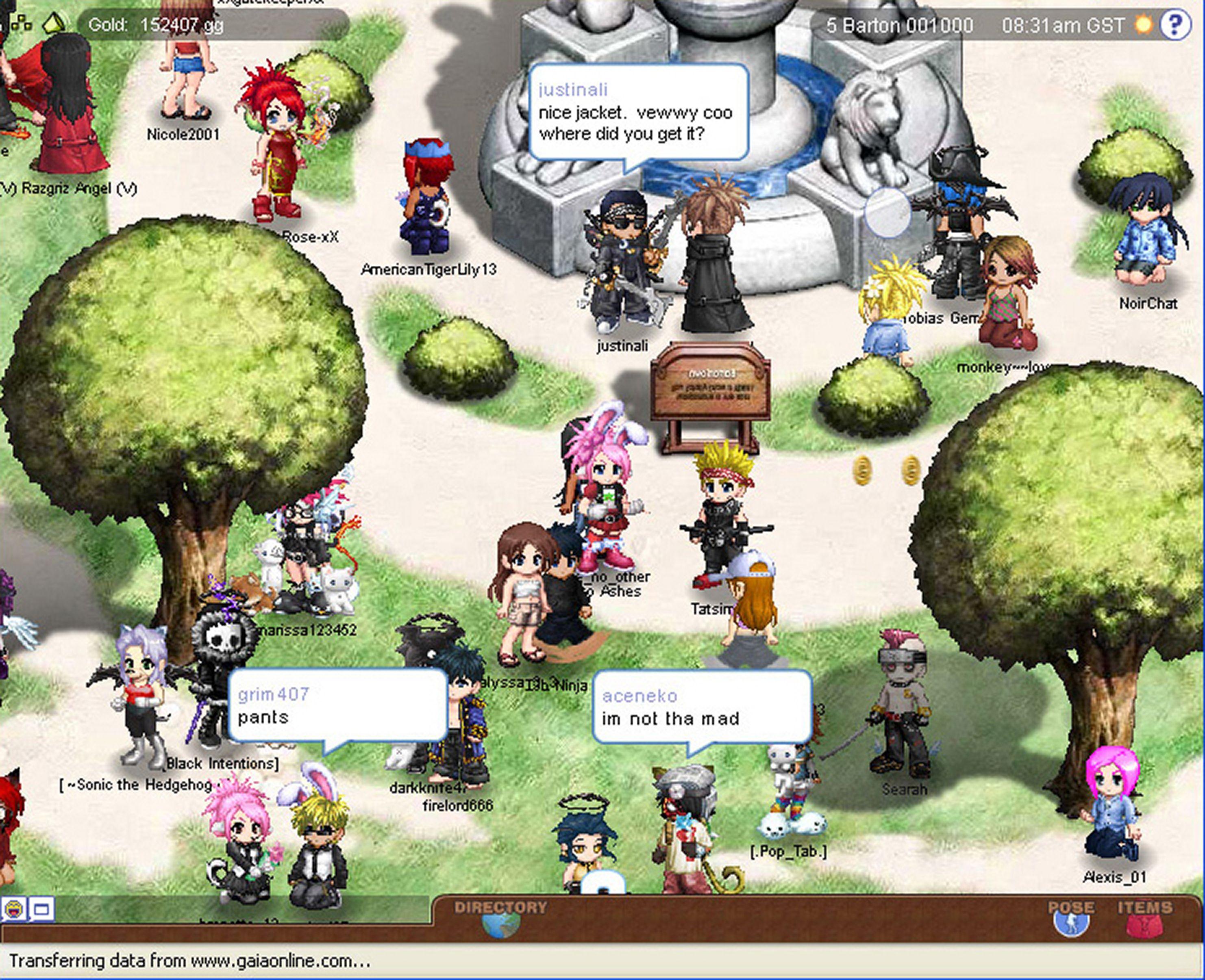 Gaia Online Towns Www Gaiaonline Com Games Gaia Like