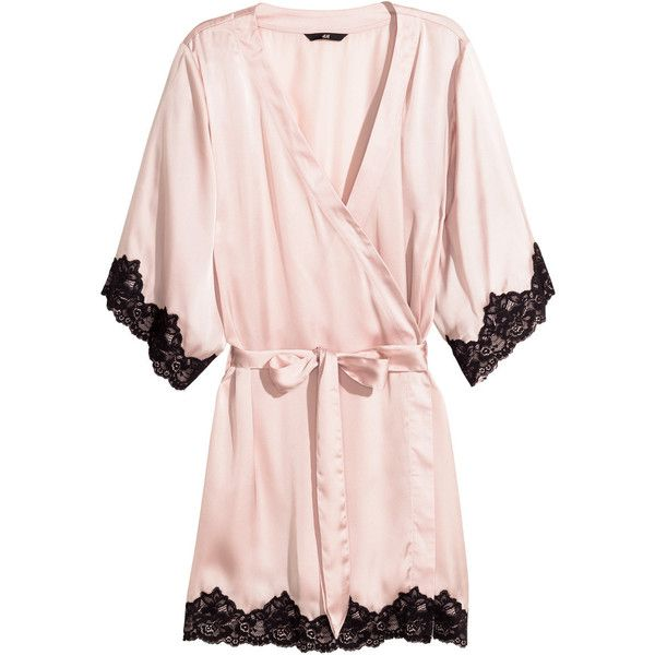 H&M Satin kimono (41 AUD) ❤ liked on Polyvore featuring intimates ...