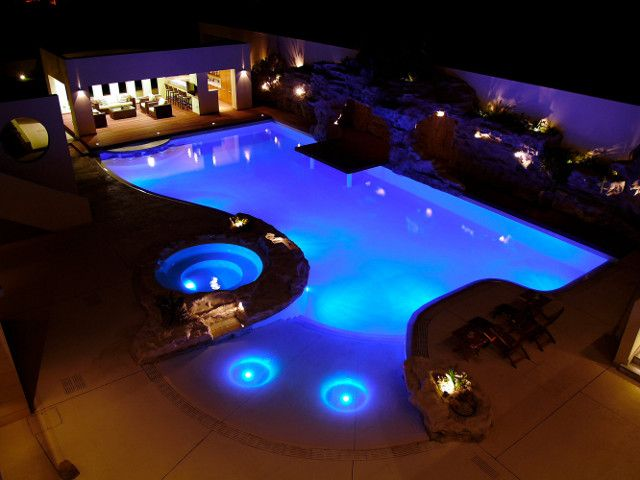 Gorgeous Automated Pool Is Part Of A Mediterranean Backyard On The