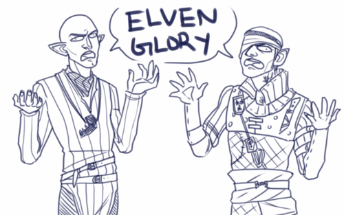 Elves. Solas and Iorveth. Dragon Age and The Witcher.
