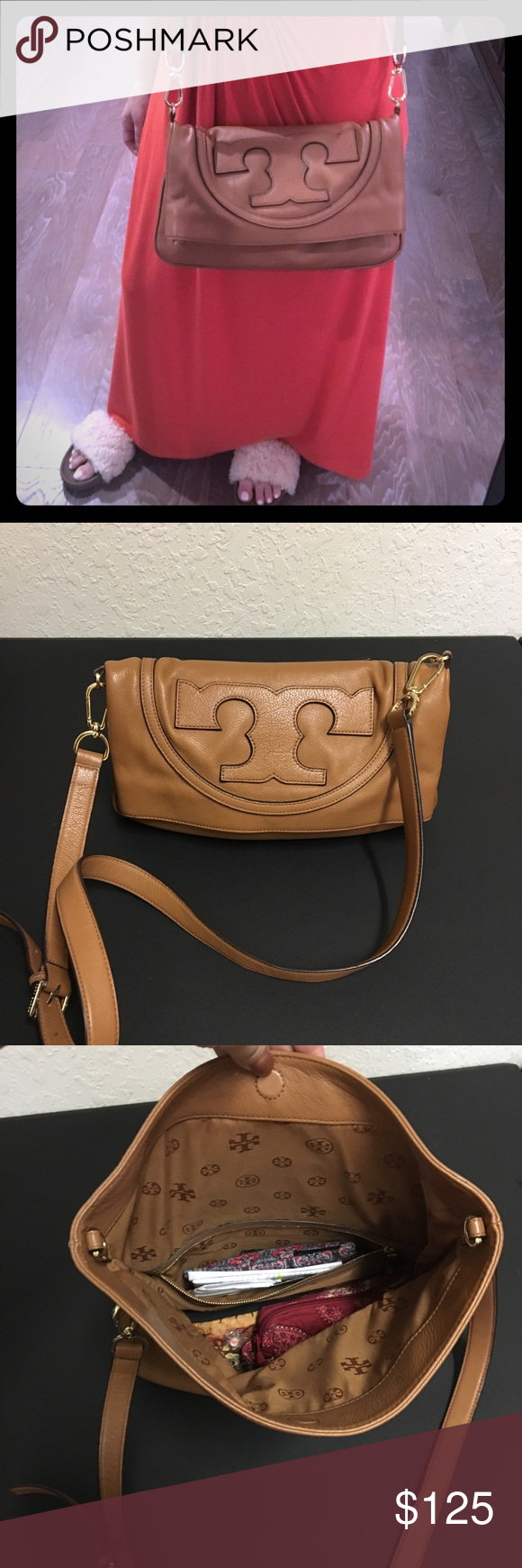 47629c30576e Authentic Tory Burch All T Suki Crossbody Bag Nice size and nice look! Fits  a
