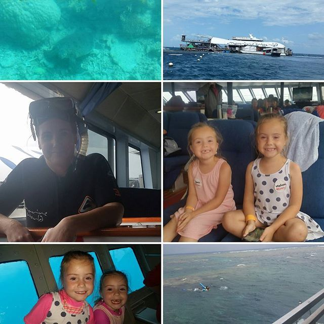 I dont think we could of picked a worse day! Blew a gale torrential rain & sea sick children BUT once in the water the amazement of it all made it worth it! Best day ever!!!!! #marineworld #greatbarrierreef #snorkeling by renee_geddes http://ift.tt/1UokkV2