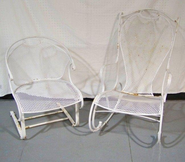 243 Vintage Woodard Rocking Chair Side Chair Jun 25 2011 K M Auction Liquidation Sales Ltd In Fl Mid Century Patio Furniture Outdoor Chairs Rocking Chair