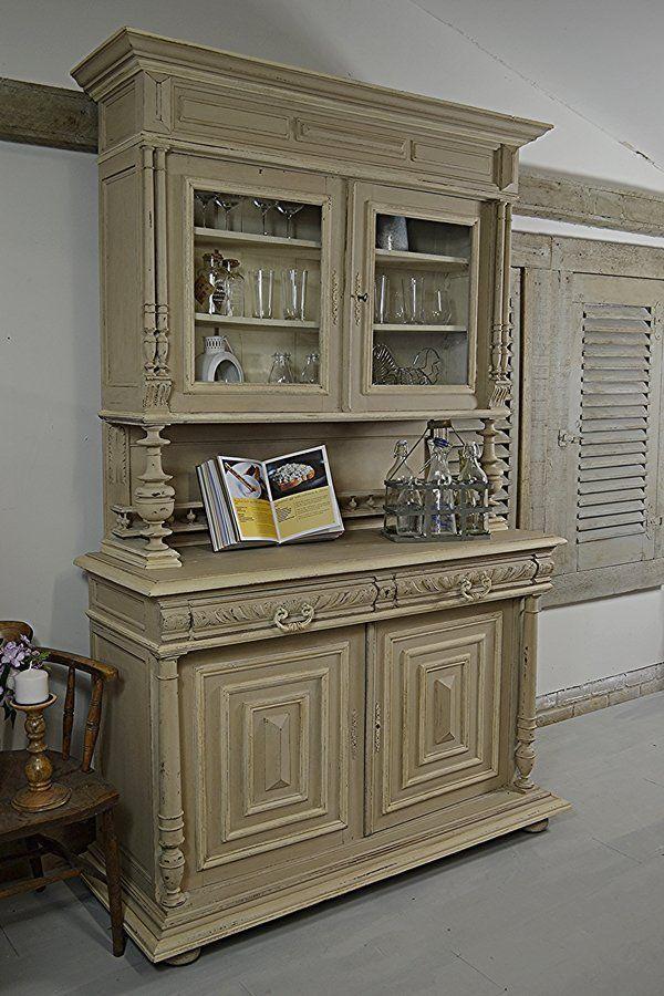 Shabby Chic French Buffet Kitchen Dresser Kitchen Storage The - meuble en bois repeint