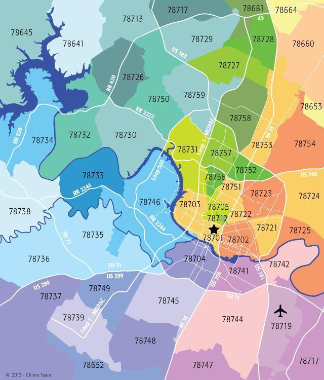 Austin Zip Codes Map Zip Code Map Coding Map