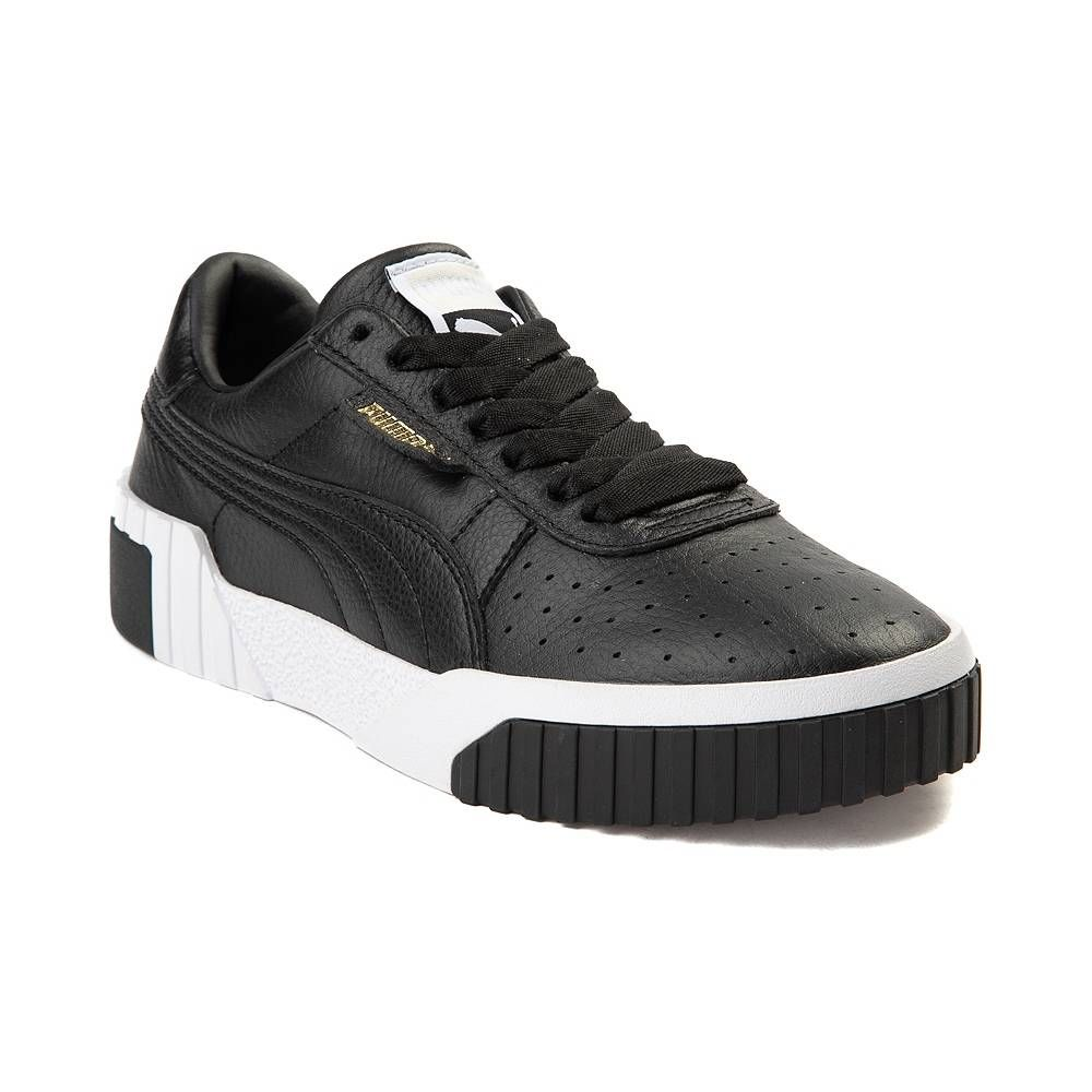 f25cce757e7 Womens Puma Cali Fashion Athletic Shoe - Black White - 361829