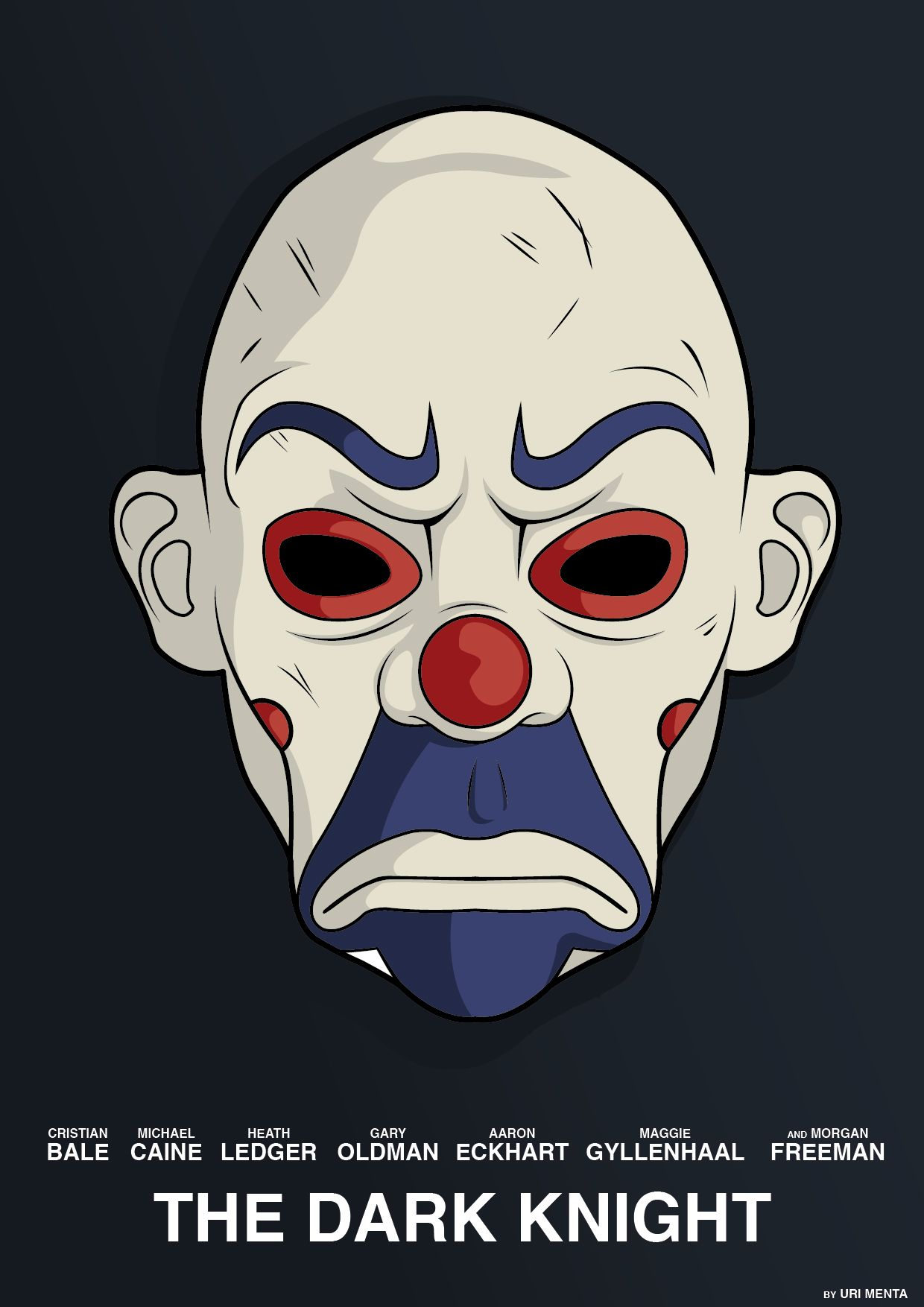 Joker s mask in the bank robbery movie poster  thejoker  batman   illustration 8bf943fd4e