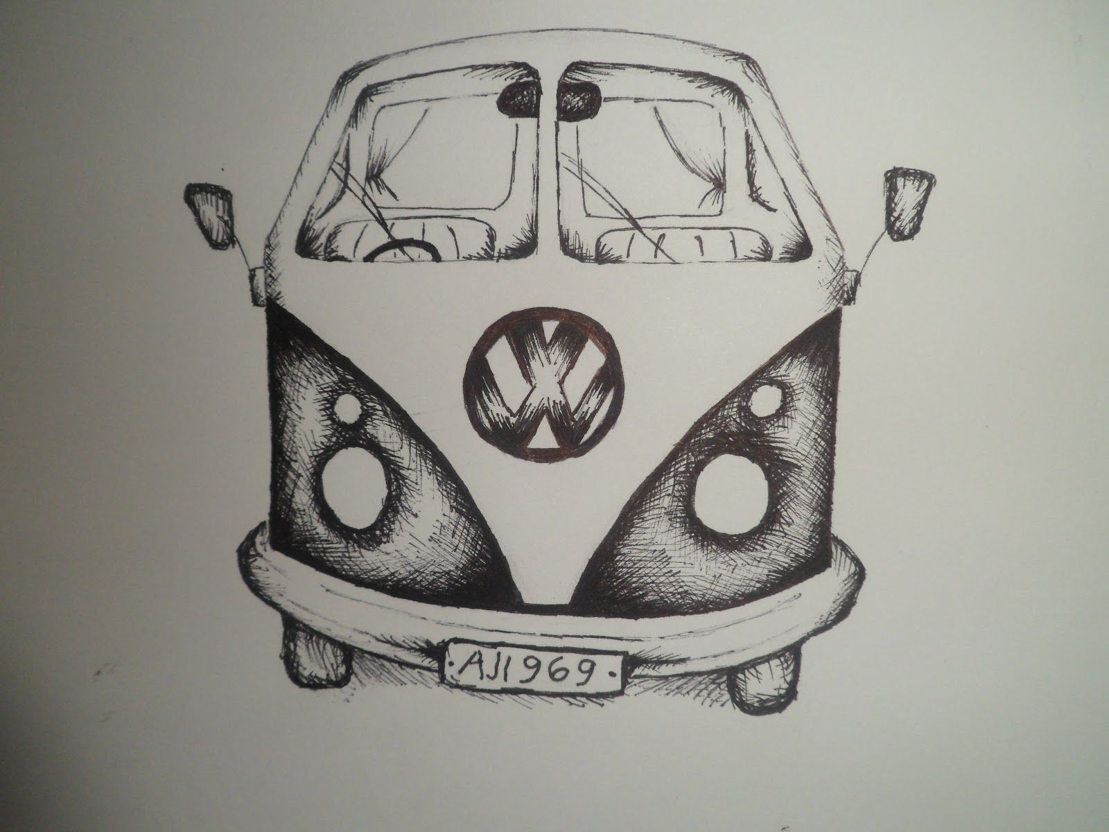 draw 6 volkswagon van cool things to draw pinterest