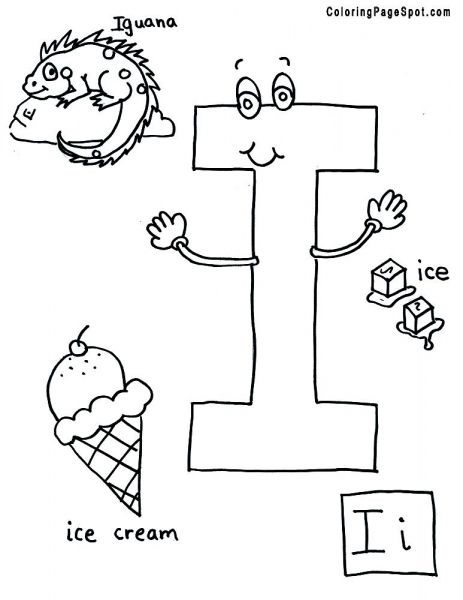 Coloringpagespot Com Letter I Alphabet Coloring Pages Letter A Coloring Pages