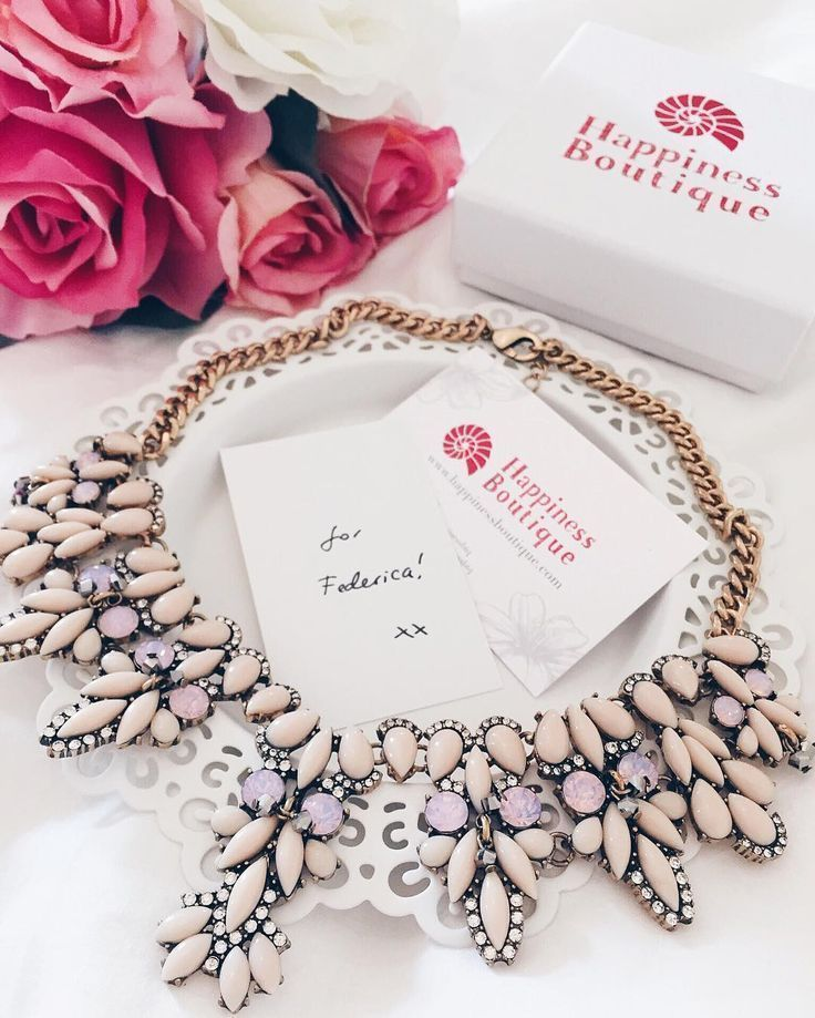Pastel Bouquet Statement Necklace #pink #pretty #statementnecklace #necklace - 24,90  @happinessboutique.com