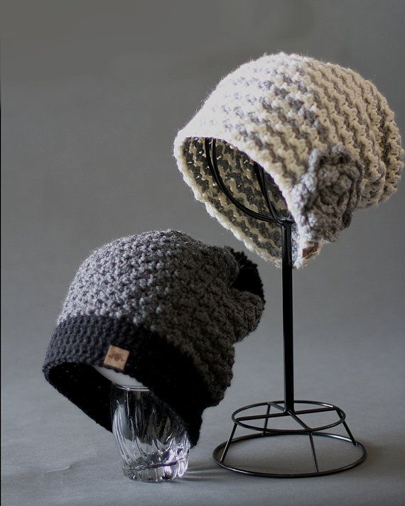 Crochet Slouchy Hat PATTERN Montgomery Slouchy Hat Includes Sizes ...