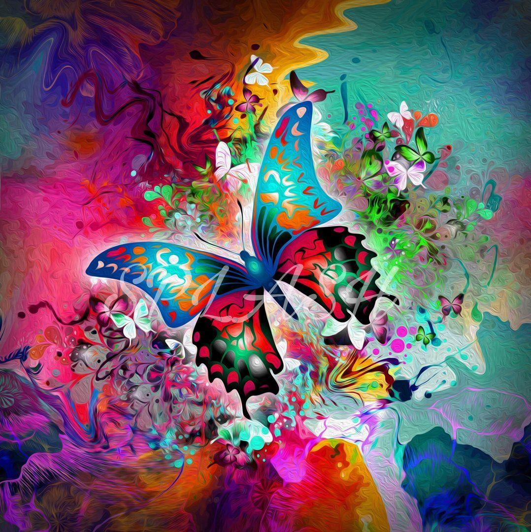 Cuadro moderno guapo abstracto mariposa digital print for Cuadros guapos