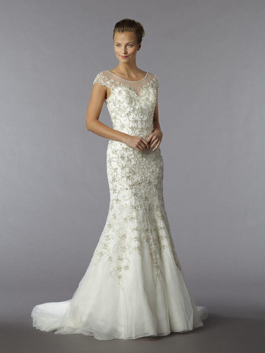 Stunning detail! I Style #13004 #SophiaMoncelli @kleinfeldbridal ...