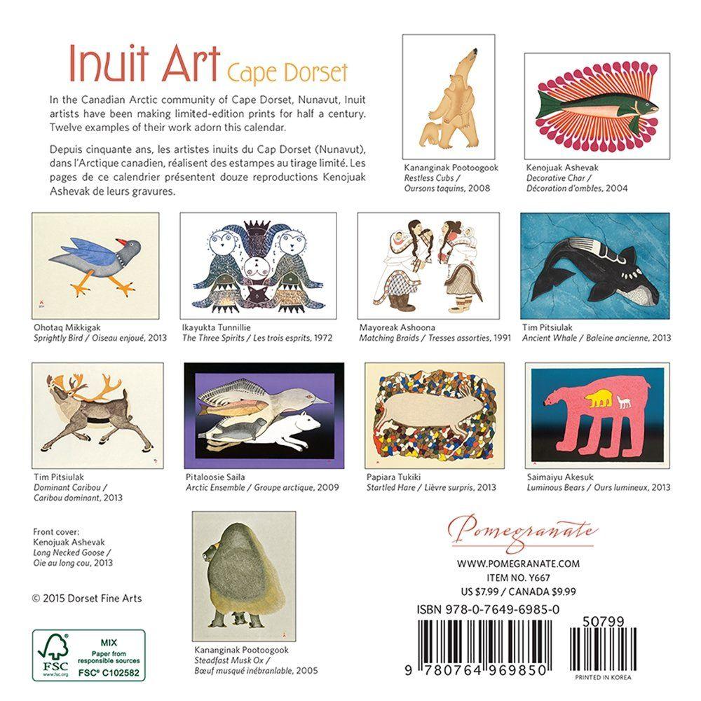 2016 INUIT ART/CAPE DORSET MINI WALL CALENDAR Y667: Amazon.co.uk: POMEGRANATE: Office Products