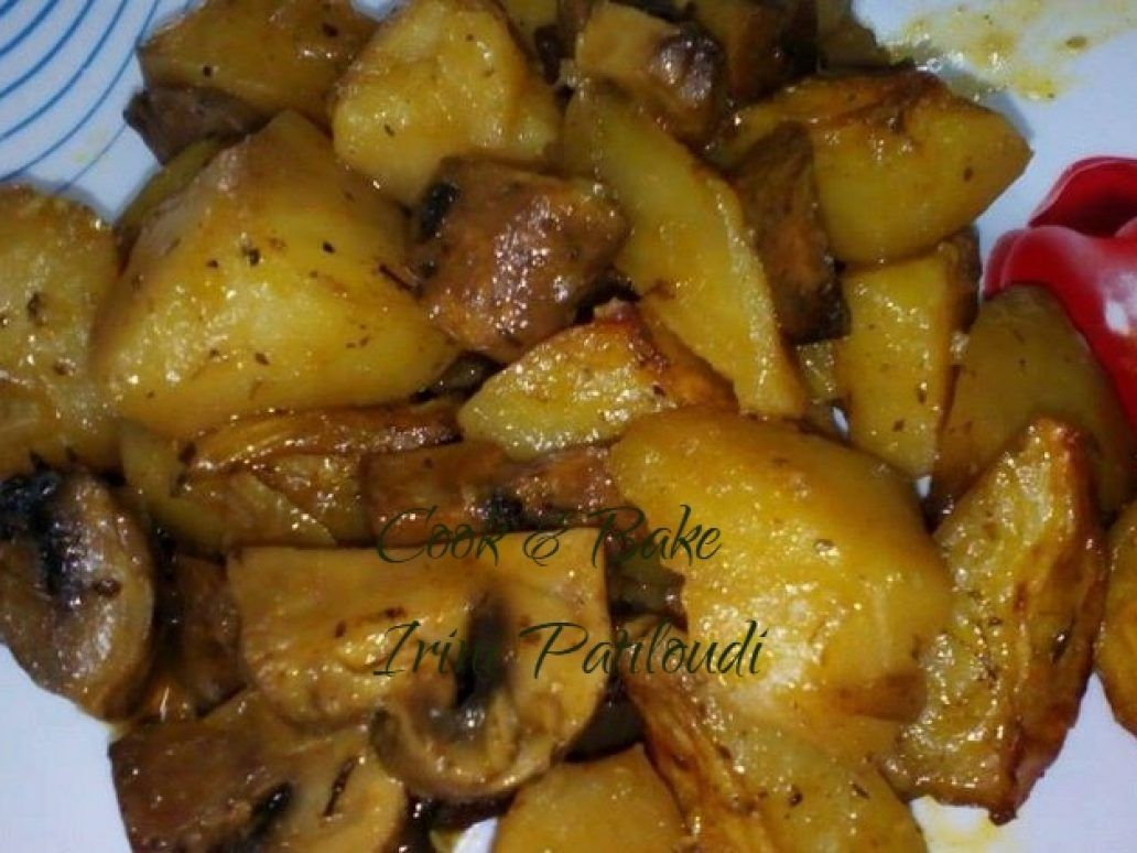 Photo of Mushrooms with potatoes in the oven, delicious t …