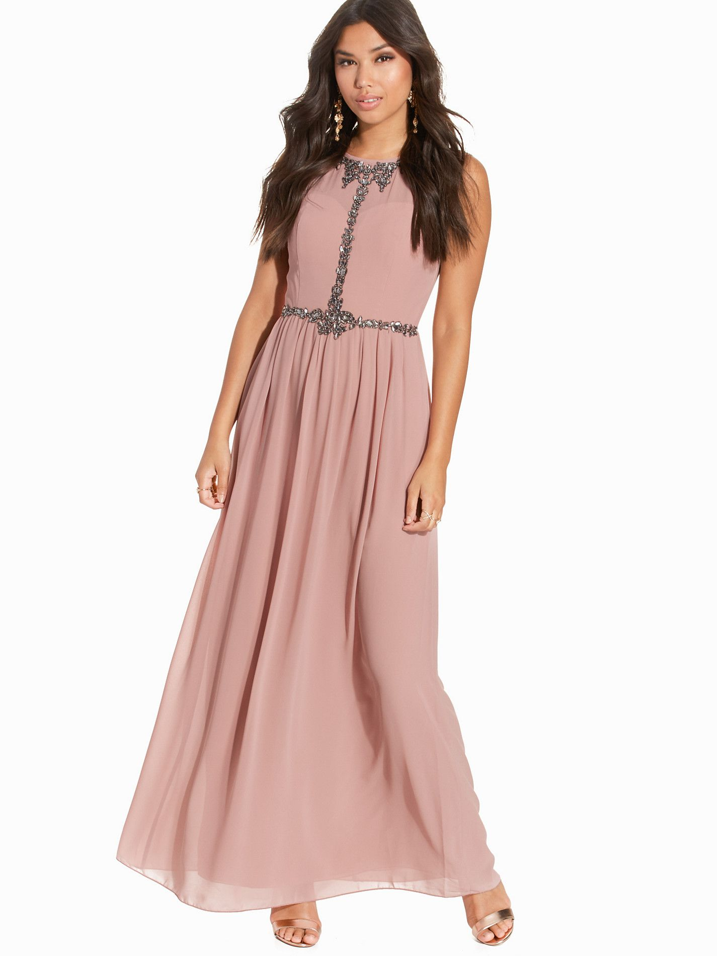 bebfcf892a8 Sheer Embellished Maxi Dress - Little Mistress - Pink - Juhlamekot -  Vaatteet - Nainen - Nelly.com