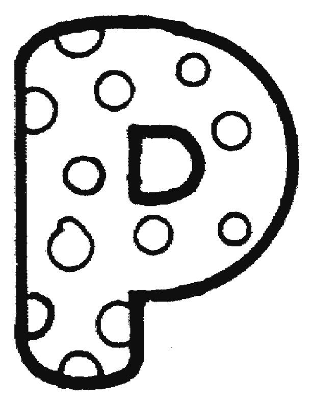 Bubble Letter P Coloring Pages | I Was a Stranger | Pinterest