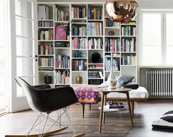 I like the Eames rockers; maybe as LR side chair?