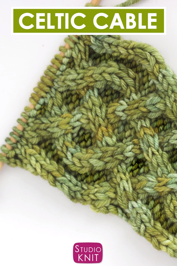 Photo of Free Celtic Cable Saxon Braid Stitch Pattern and Chart