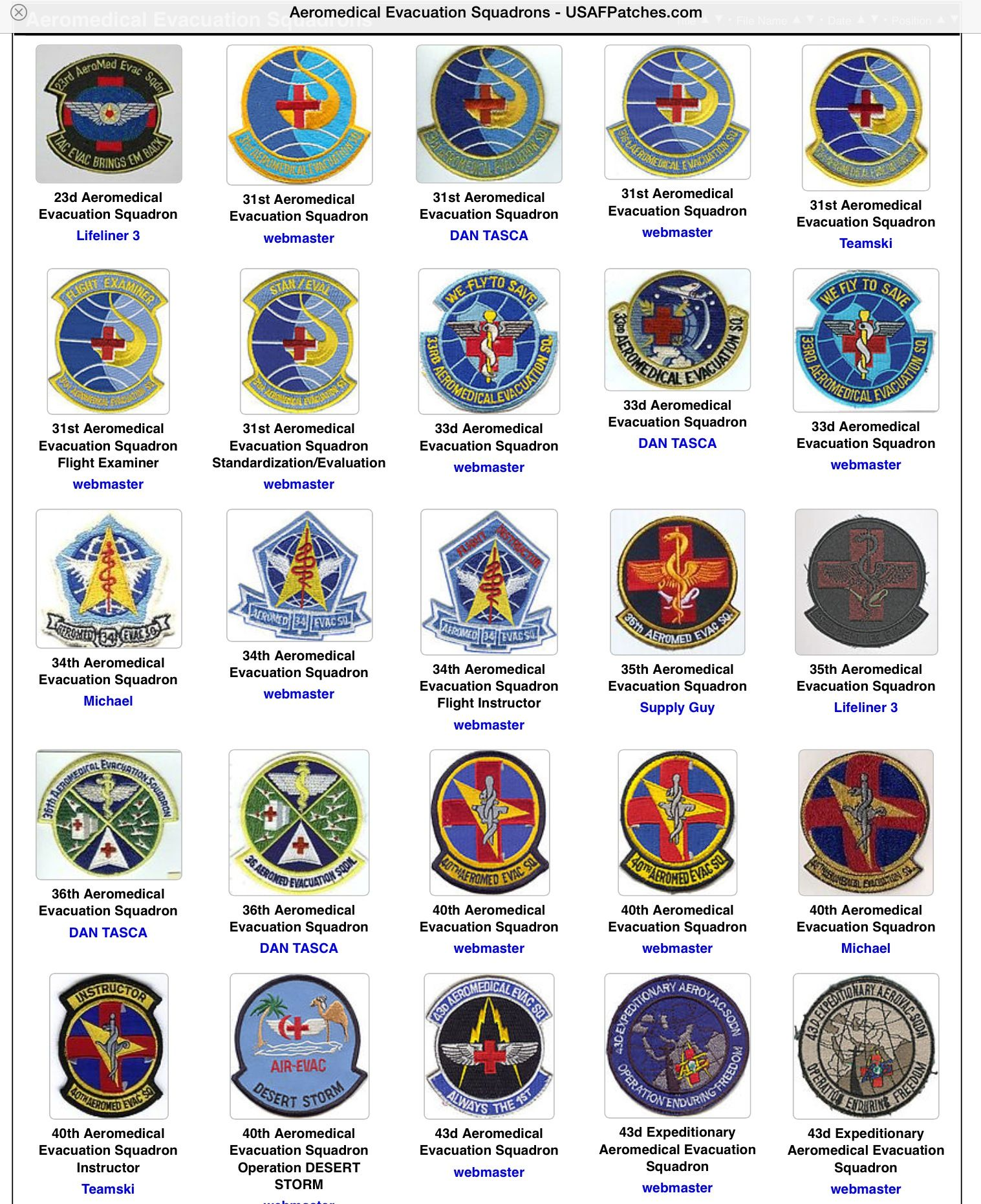Badges of honor | Ram's Aeromedical Evacuation career | Care