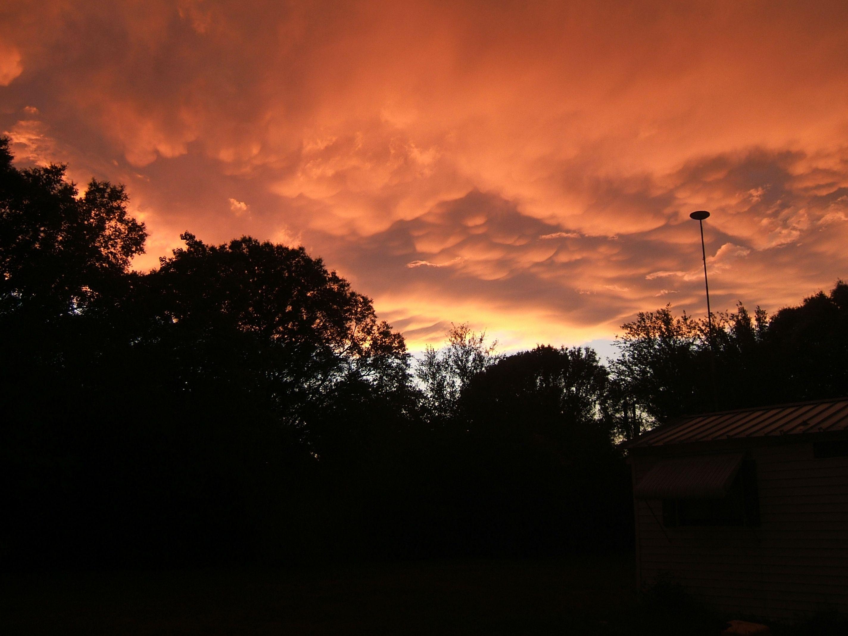 Sunset vs. Storm. (Dade City, Florida. 5/24/12) Dade