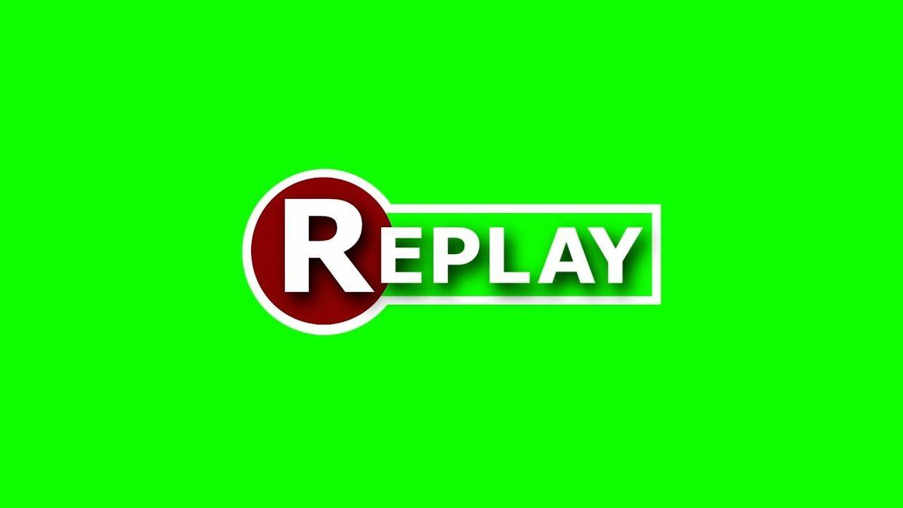 Efeito Replay Chroma Key Instant Replay Green Screen Effect Pantalla V Chroma Key Replay Key