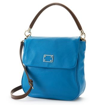 Great Summer Casual! PAVA Leather Convertible Flap Hobo