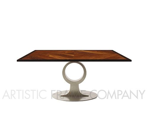 5281 Polished Stainless Steel Dining Table Base | ArtisticFrame.com