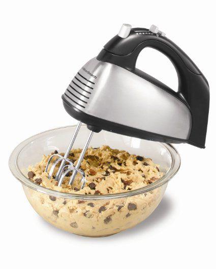 Amazon.com: Hamilton Beach 62650 6-Speed Classic Hand Mixer, Silver: Kitchen & Dining