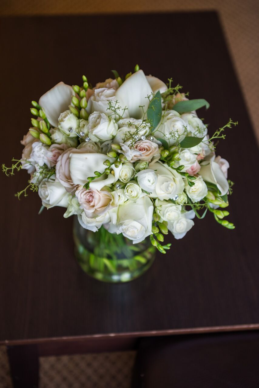 White And Green Floral Arrangement Simply Devine Weddings Events