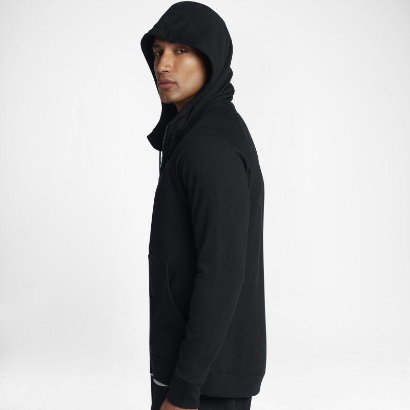 c2215e230c0749 Jordan Lifestyle Wings Fleece Men s Full-Zip Hoodie - Black ...