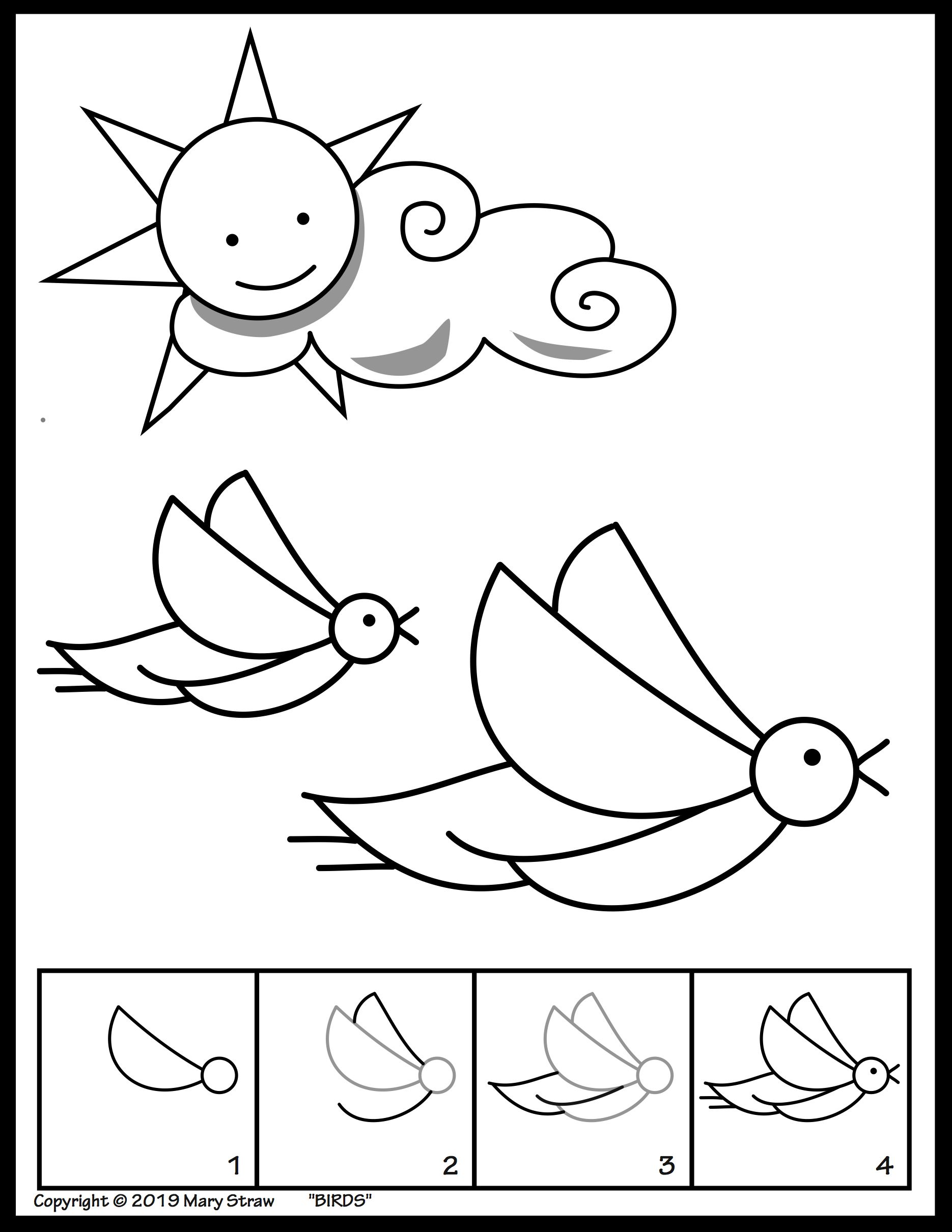Animal Activity Drawing Pages In