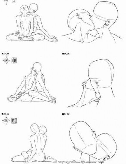 Trendy Drawing Reference Poses Male Couple Ideas #kissingposes