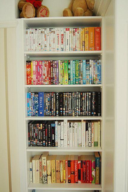 Color Organized Bookshelf