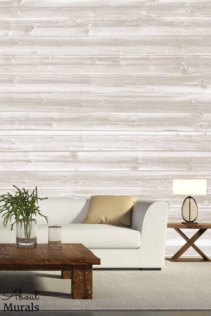 Faux Wood Wallpaper As Seen On Cityline Tv About Murals In 2021 Wood Wallpaper White Wood Wallpaper Faux Wood