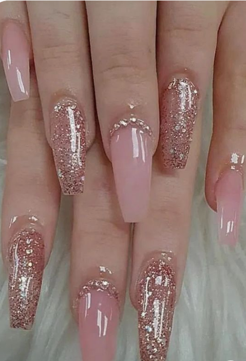 50 Glittering Acrylic Nails For Medium Length Nails And Long Nails The First Hand Fashion News For Females In 2020 Matte Nails Design Best Acrylic Nails Acrylic Nail Designs